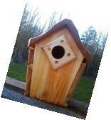 Cute decorative, handmade square Bluebird house, cedar wood