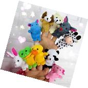 10 x Cute Family Finger Puppets Cloth Doll Baby Educational