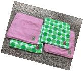 """CUTE Mud Pie Set Of 4 Monogrammed """"G"""" Wash clothes, Green &"""