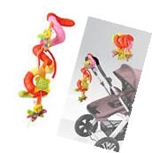 New Cute Baby Pram Bed Stroller Hanging Bell Plush Crib Ring