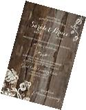 Wedding Invitations Wood & Lace Dangle Rustic Country 50