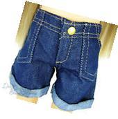 """Dark Denim Cuffed Shorts for 18"""" American Girl Doll Clothes"""