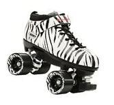 Riedell Dart Speed Skates - Zebra Stripe