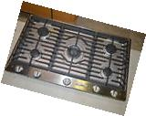 """Dacor DCT365SNG 36"""" Stainless Gas Cooktop w/5 Sealed Burners"""