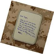Dear Troops Letter Morale Patch Thank You For Your Service
