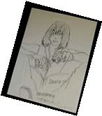 Death Note MELLO Original Pencil Drawing Japanese Anime