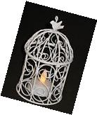 Decorative Bird Cage, LED Tealight Candle Holder, Made Of