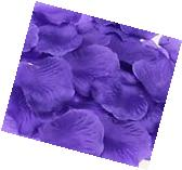 1000pcs Deep Purple Silk Rose Petals Bouquet Artificial