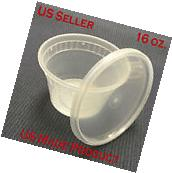 240 Sets Deli Food Round Containers Soup Cup Plastic 16 oz