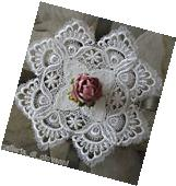 "Delicate Trim Lace Doily   Estate Design  11""  White"