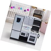 Deluxe Gourmet Corner Large Kids Kitchen Toddler Cooking