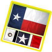 3x5 Ft Deluxe TEXAS Embroidered TX American Nylon Lone Stars