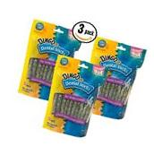 Pack of 3 Dingo Dental Sticks Rawhide Dog Treats - 90 Total