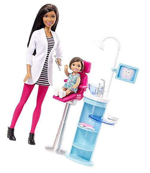 Barbie Dentist Doll & Playset New
