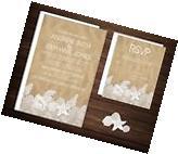 Wedding Invitations Beach Desitnation Beach & Lace 50