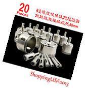 20 Pcs 6-50mm Diamond tool drill bit hole saw set glass