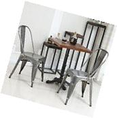 Dining Chairs Set of 4 Industrial Vintage Rustic Side Chair