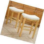 Dining Room Beige Hardwood Backless Counter Stools