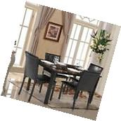 5 Piece Dining Set Breakfast Furniture 4 Chairs and Table Kitchen Dinette J6B3