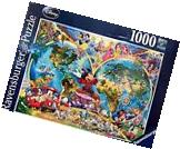 RAVENSBURGER DISNEY JIGSAW PUZZLE DISNEY'S WORLD MAP 1000