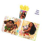 Disney Moana Birthday Party Pack of 32 pc ~ Plates Cups &