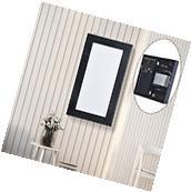 HOMCOM Jewelry Box Display Door Holder Mirror Women Black