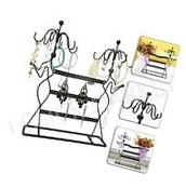 Jewelry Display Stand Earring Holder Rack Organizer Necklace