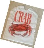SET of 12 Disposable Plastic CRAB Bibs FREE SHIPPING Seafood