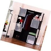 DIY 12 Cube Portable Closet Storage Organizer Clothes