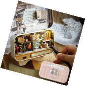 DIY Wooden Dolls house Miniature Model Kit /LED Light/ ALL