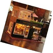 DIY Wooden Dollshouse Miniature Kit w/ LED & Music-Dollhouse