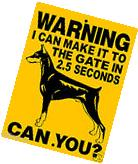 "DOBERMAN PINSCHER DOG SIGN, 9""x12"" ALUMINUM,Guard Dog Sign,"