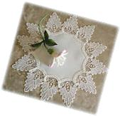 "16"" Doily Antique White Dresser Scarf Formal European Lace"