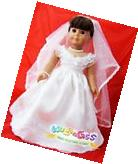 Doll Clothes for 18'' American Girl Handmade First communion/Wedding Dress