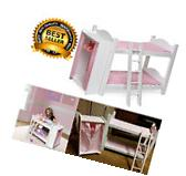 Doll Bed 18 Inch Bunk Storage Closet Clothes Ladder American