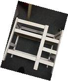 18 inch Doll Bunk Bed with Ladder Handmade Wood White New