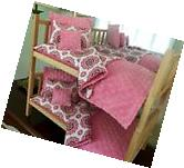 Doll Bunk Bed Stackable & 10PC Bedding With Mattress 18""