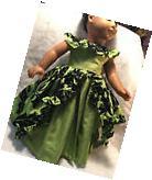"""Doll Clothes Handmade Party Holiday Hawaiian Dress Fits 18"""""""