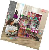 Girls Doll houses Play Dollhouse 3 levels 8 Rooms 26 Pieces
