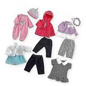 Doll Clothes You and me 5 in 1 Doll Fashion Pack For 12-14