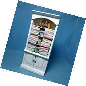 Dollhouse Miniature Bathroom Cabinet with Lots of