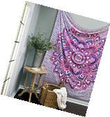 Dorm Decor Wall Hanging Hippie Tapestry Bohemian Bedspread