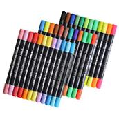 Huhuhero Double-Ended Fine and Soft Brush Tip Watercolor Art Pen Markers
