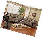 Dream Java Chenille Sofa & Love Seat Living Room Furniture
