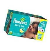 Pampers Baby Dry Diapers, Size 5    128 Diapers +  6 Easy Up