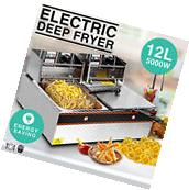 12L Dual Tanks Electric Deep Fryer Commercial Tabletop Fryer