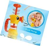 Duck Pump Bath Toy for Kids Baby Water Pistol Spray Pump