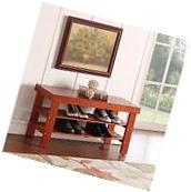 Durable Quality Solid Wood Shoe Storage Bench Entryway