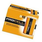 NEW DURACELL PROCELL D ALKALINE BATTERIES QTY 12  EXP 5+ YRS