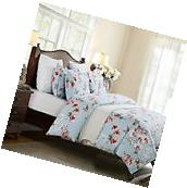 Duvet Cover Set Floral Spring Flowers Queen Size Bedding